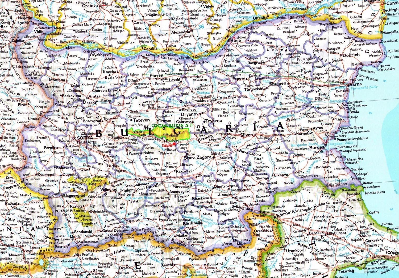 Karta Na Bulgaria.Welcome To Kalofer Map Of Bulgaria
