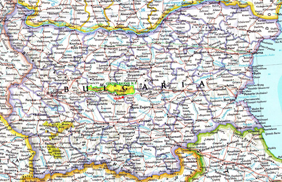 Welcome To Kalofer Map Of Central Bulgaria